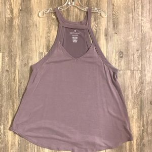American eagle cut out mock neck tank
